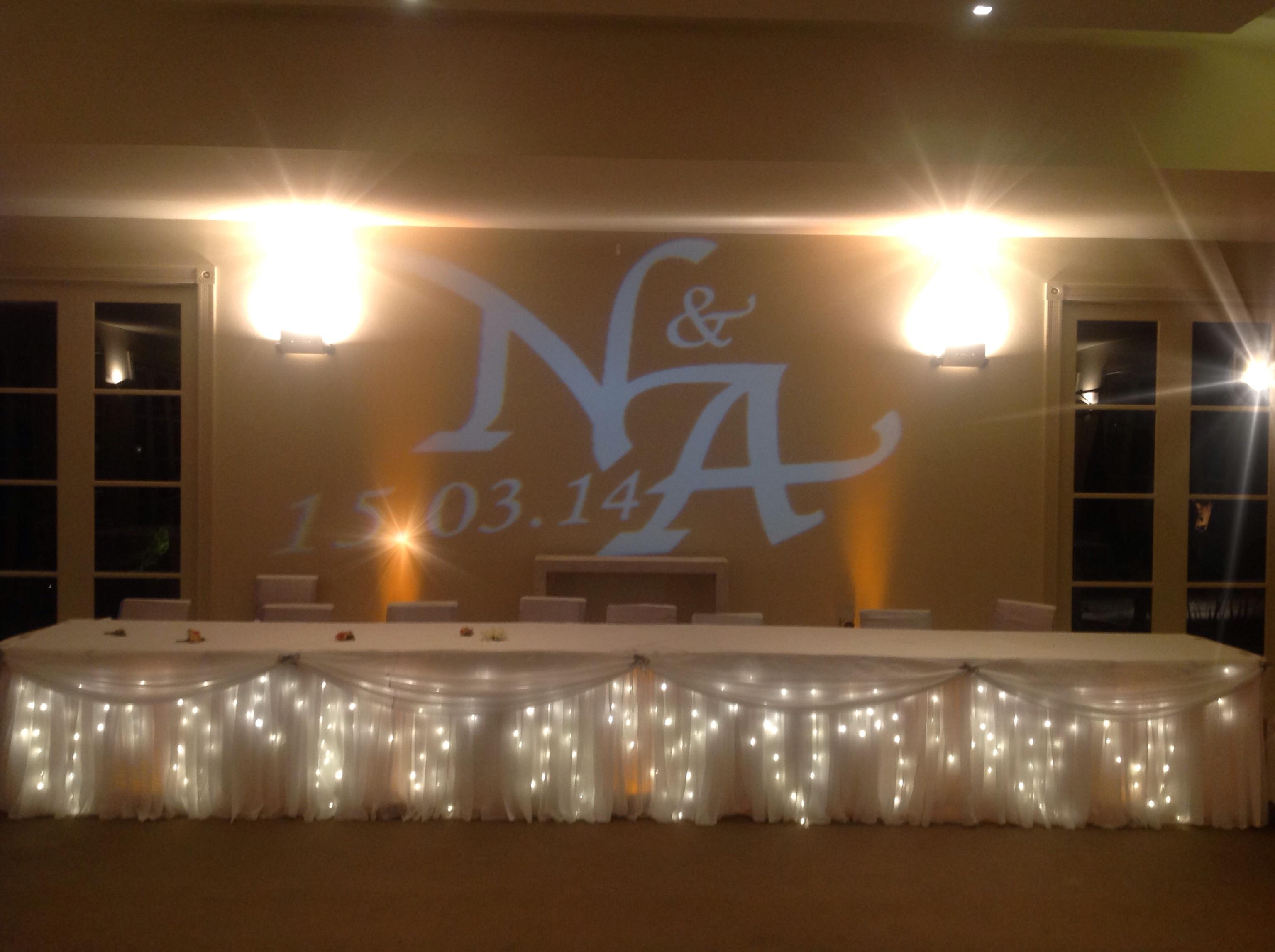 How Lighting Can Affect Your Wedding: Uplighting & Monogram Lighting